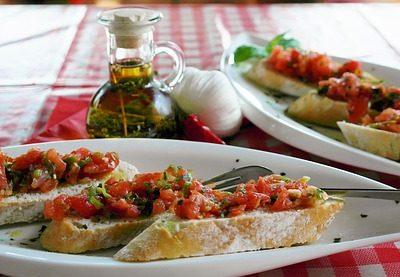 Tina's Tomato Basil Bruschetta